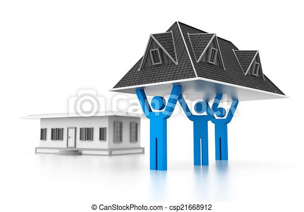 House Construction Clip Art : House construction