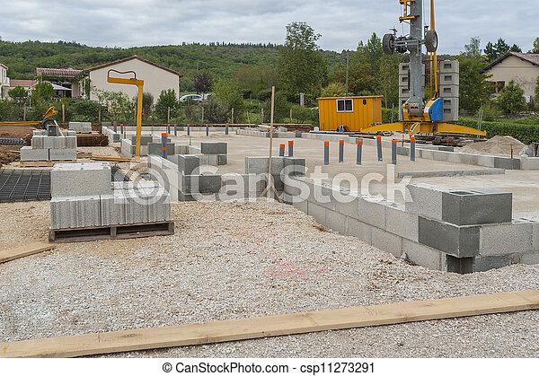 House construction - csp11273291