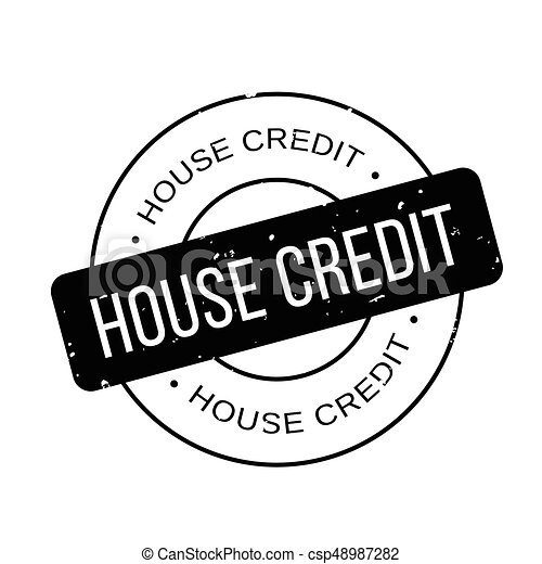 House Credit rubber stamp - csp48987282