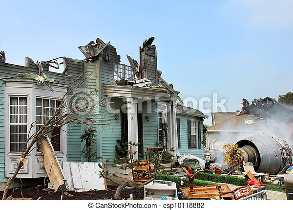 House damaged by disaster - csp10118882