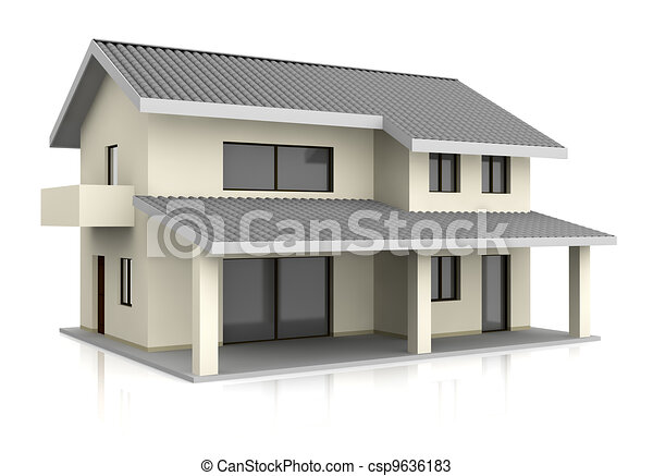 One beautiful house with two floors 3d render for Casa 3d gratis