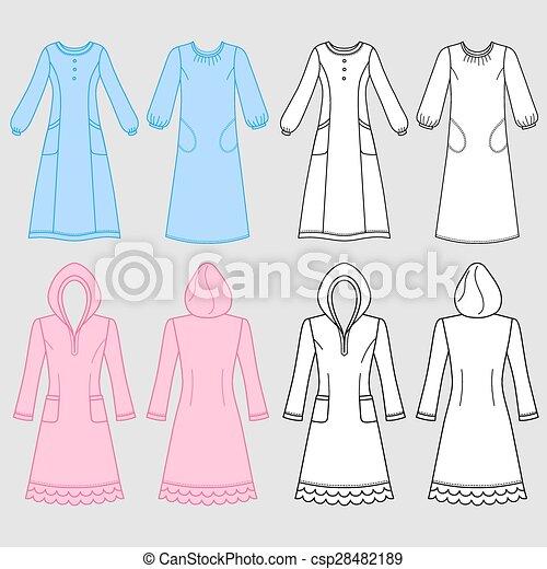 House dress, nightdress - csp28482189