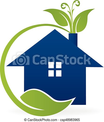 house ecology logo house apartment with green leafs garden clip rh canstockphoto com clipart of ecology Ecosystem Clip Art