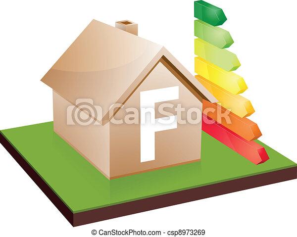 house energy efficiency class F - csp8973269