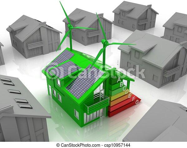 house energy saving concept  - csp10957144
