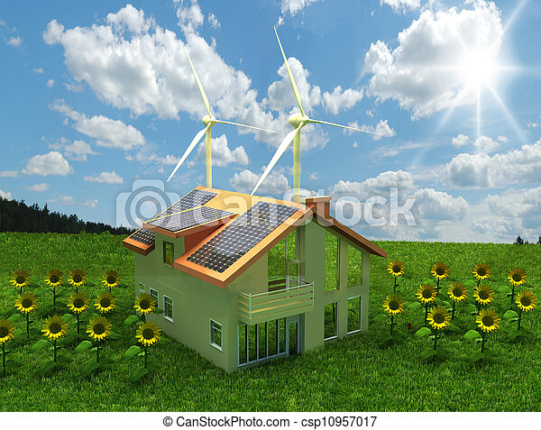 house energy saving concept  - csp10957017