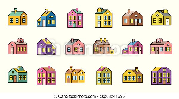 house filled outline vector icon, pixel perfect - csp63241696