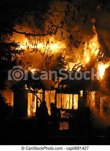 house fire - csp0681427