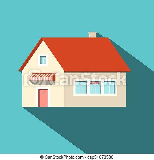 House Flat Design Vector Icon - csp51073530