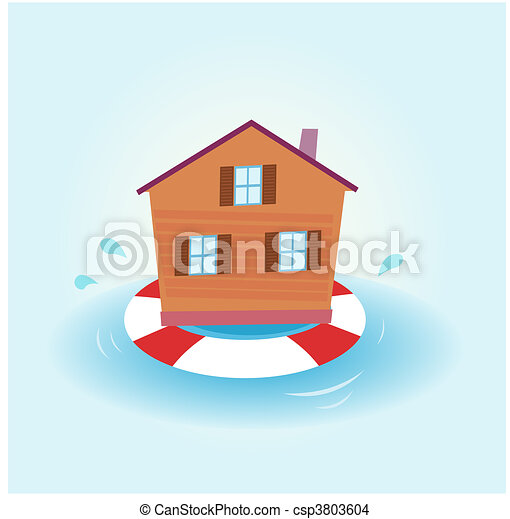 House flood - staying afloat - csp3803604