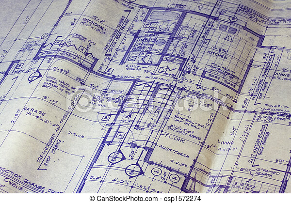 House floor plan blueprint detail of 40 years old house blueprint house floor plan blueprint csp1572274 malvernweather Images