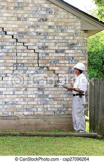 House Foundation Damage - csp27096264