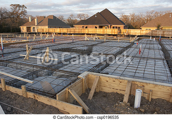 House Foundation Rebar - csp0196535