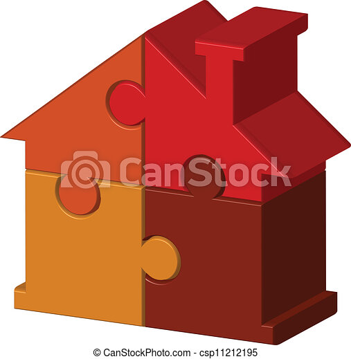 house from puzzles - csp11212195