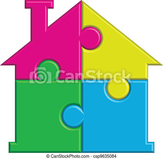 house from puzzles - csp9635084