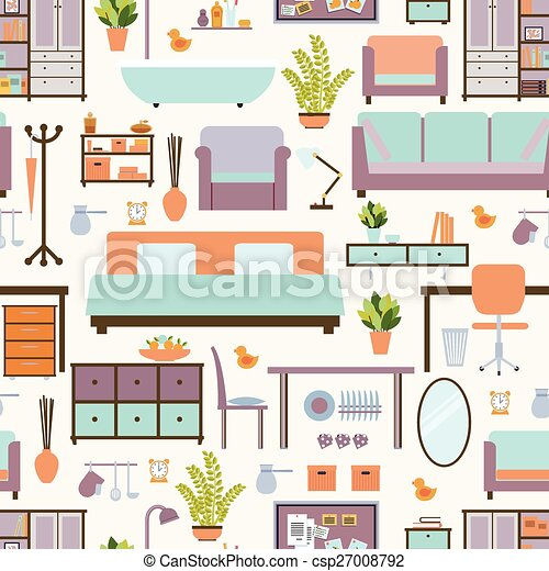 House Furniture Pattern   Csp27008792