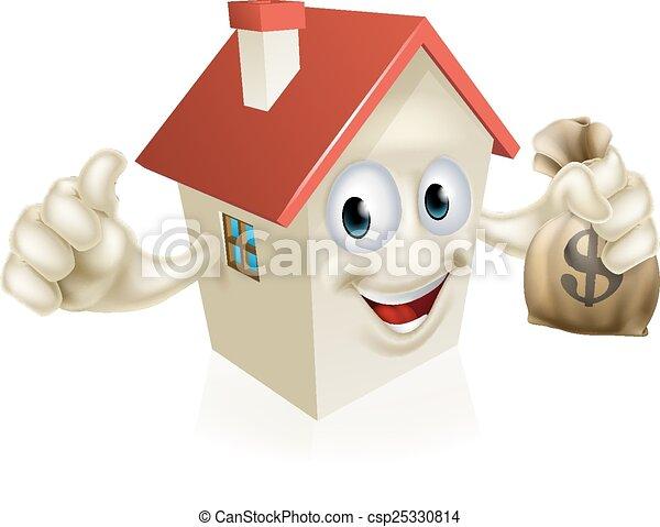 House Holding Money - csp25330814