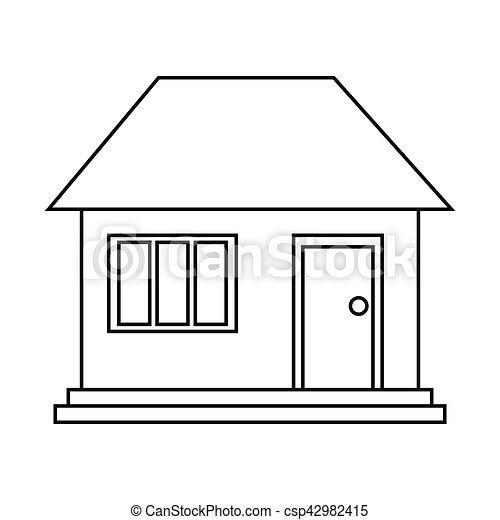 house home family residential outline vector illustration vector rh canstockphoto com house outline clip art for free house outline clipart