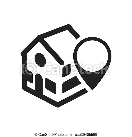 House home silhouette design. Home house gps silhouette real... eps ...