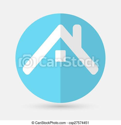 house icon on a white background - csp27574451