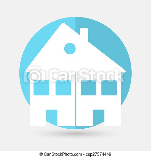 house icon on a white background - csp27574449