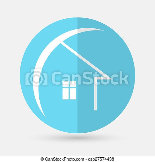 house icon on a white background - csp27574438