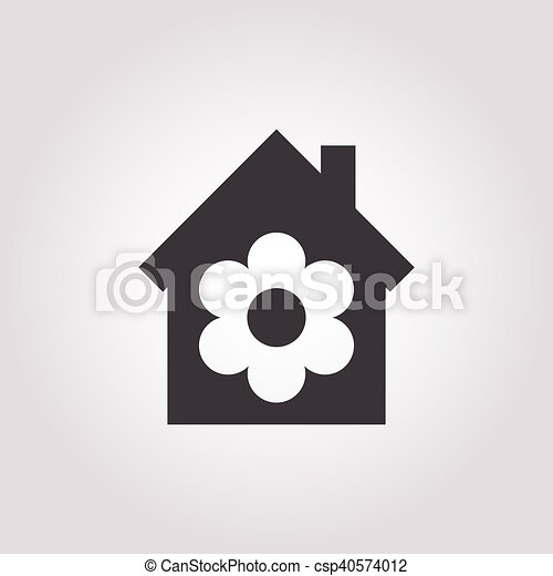 house icon on white background - csp40574012