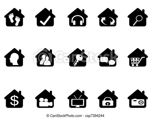 house icon set - csp7394244