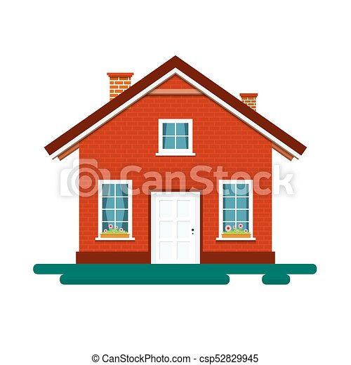 House Icon. Vector Building Isolated on White Background. - csp52829945