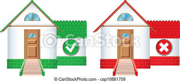 House icons accepted and rejected - csp10881709