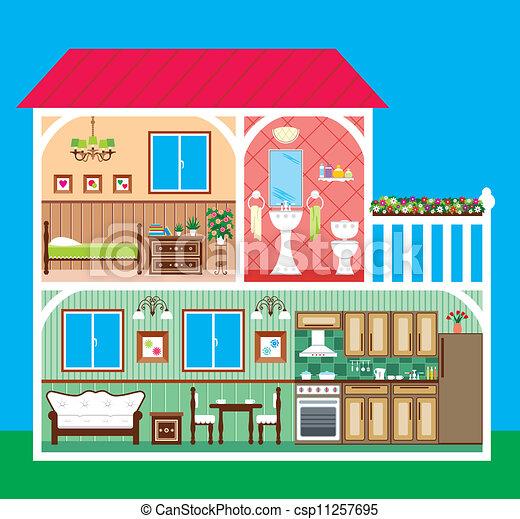 House in a cut - csp11257695