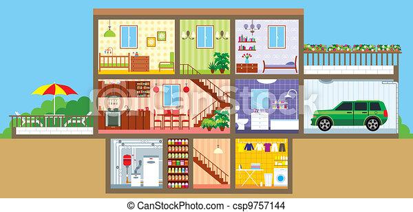 House in a cut - csp9757144