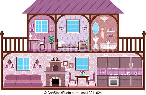 House in a cut - csp12211024