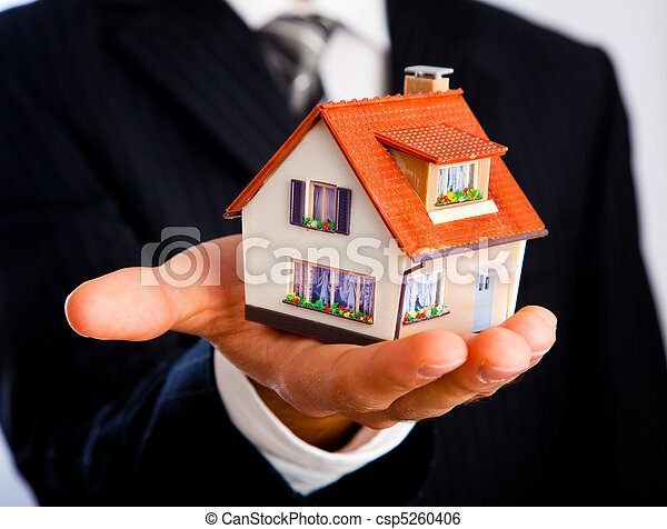 house in a hand - csp5260406