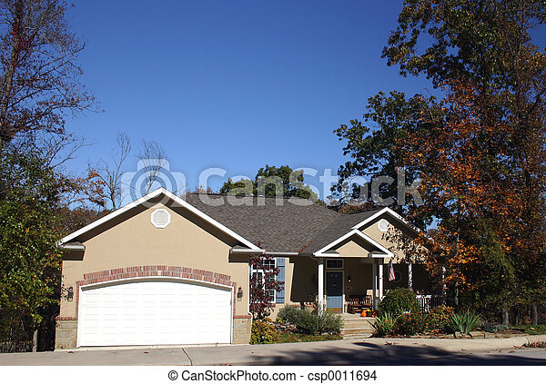 House in fall - csp0011694