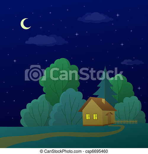 House in forest - csp6695460