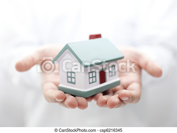 House in hands. Shallow DOF - csp6216345
