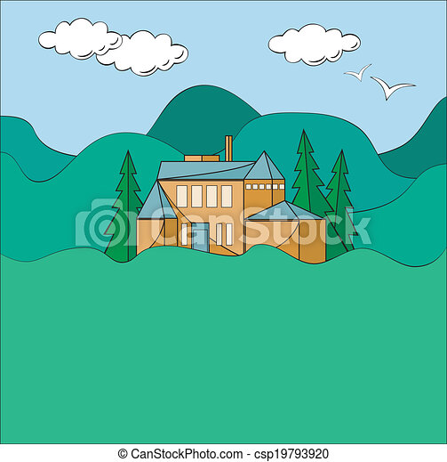 House In Mountains - csp19793920