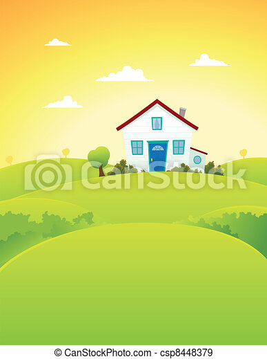 House In The Fields - csp8448379
