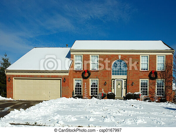 House in Winter - csp0167997