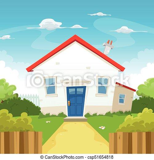 House Inside Spring Garden - csp51654818
