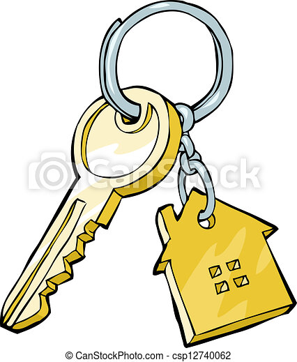 House Key On A White Background Vector Illustration