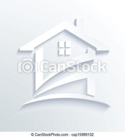 House Label Check Logo Vector - csp15989102