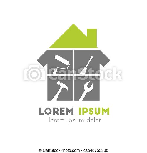 House Logo With Work Tools   Csp48755308