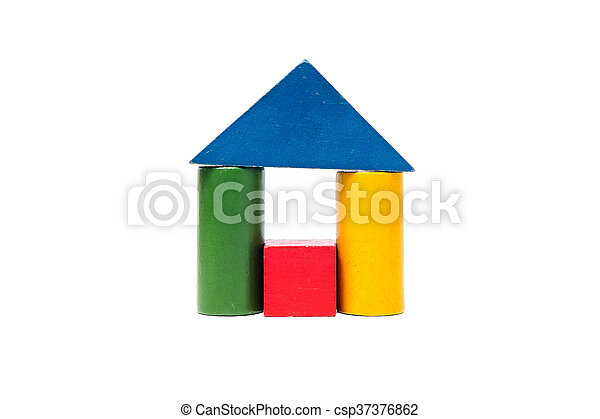 House made of old cubes. - csp37376862