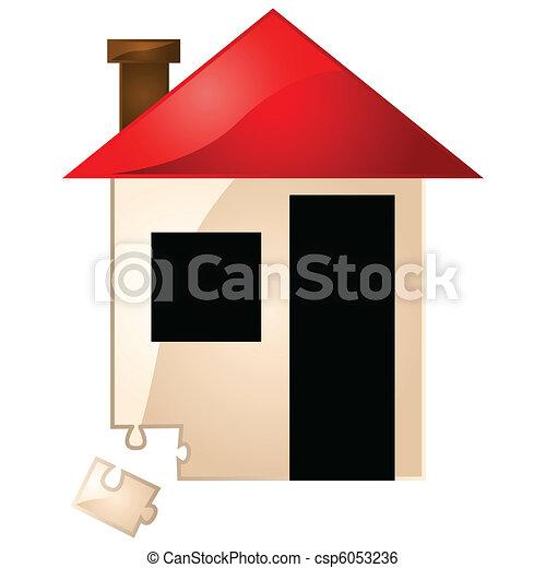 House missing puzzle piece - csp6053236