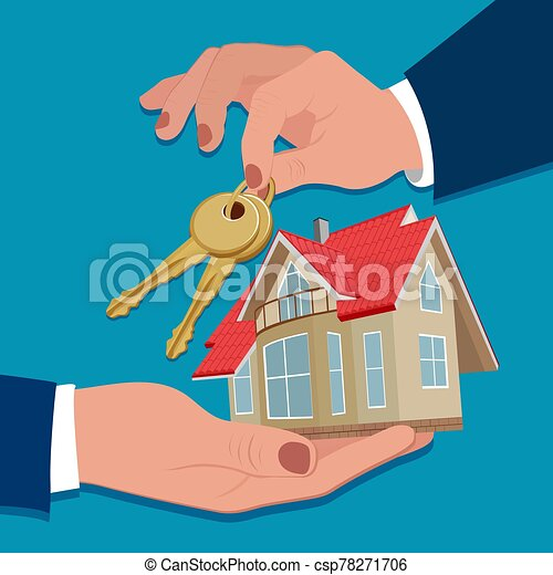 House mortgage concept, vector illustration - csp78271706