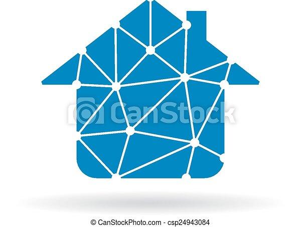 House network logo - csp24943084