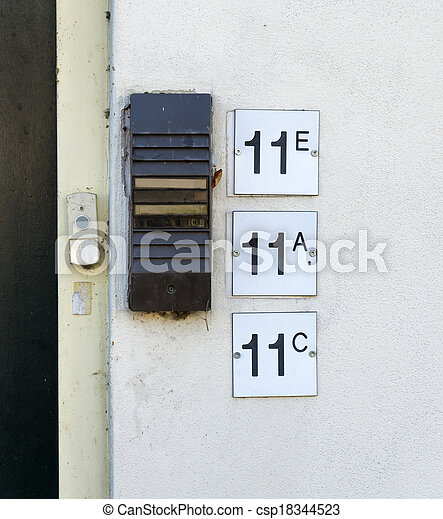 house numbers - csp18344523
