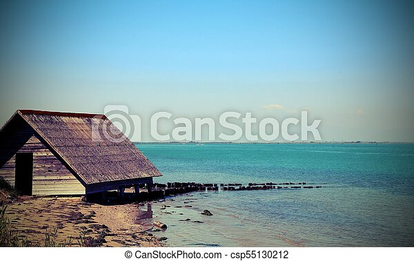 house of fisherman by the sea on fishermen village - csp55130212